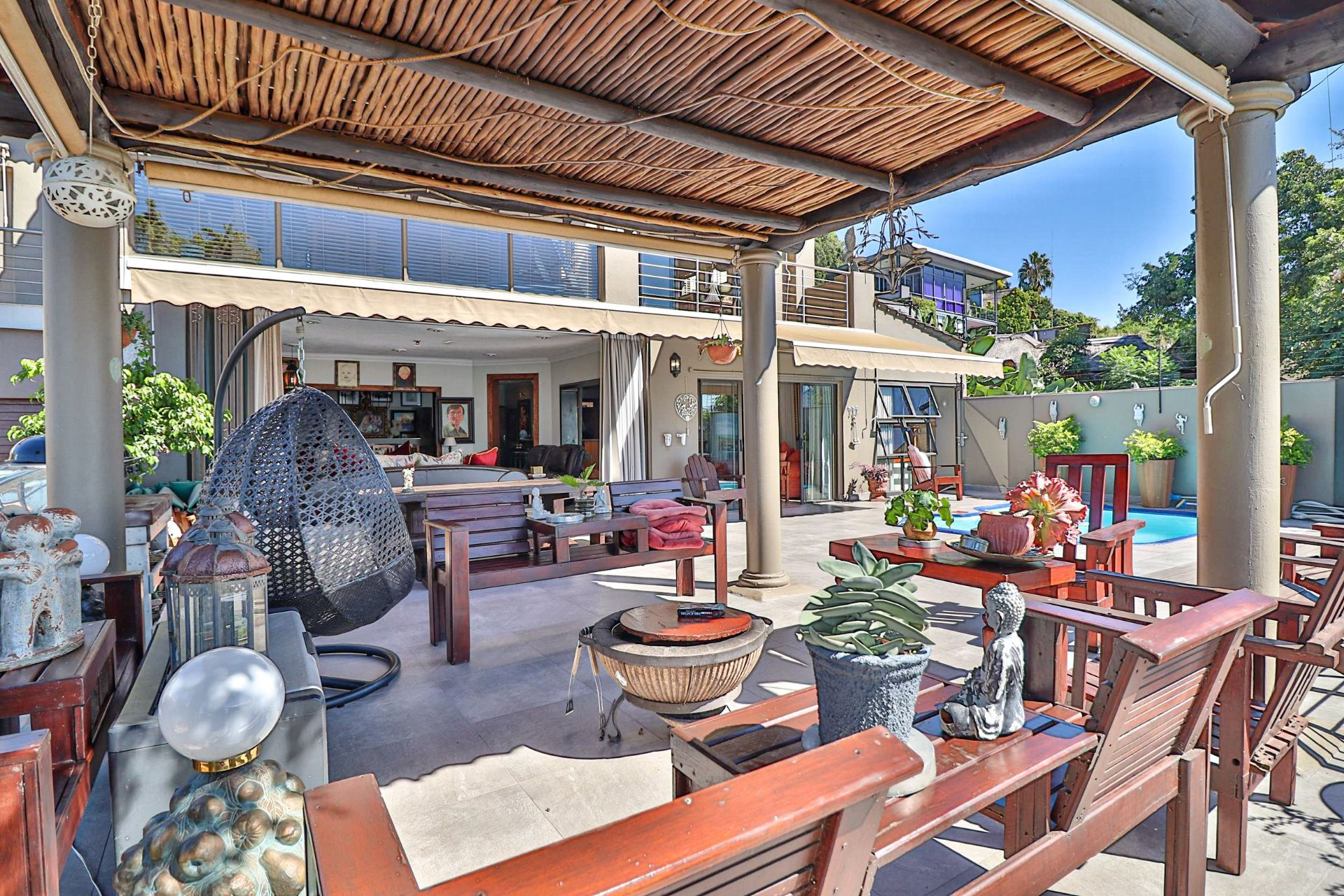 House in Kosmos Village - Patio leads off the lounge and dining area