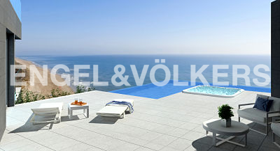 House in Cullera - Terrace with infinity swimming pool