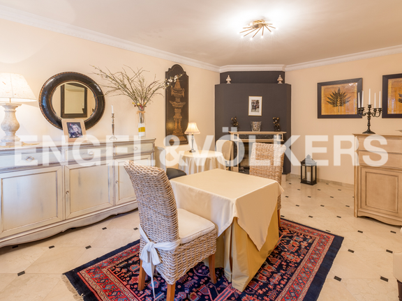 House in La Sella Golf - Dining room with fire place.