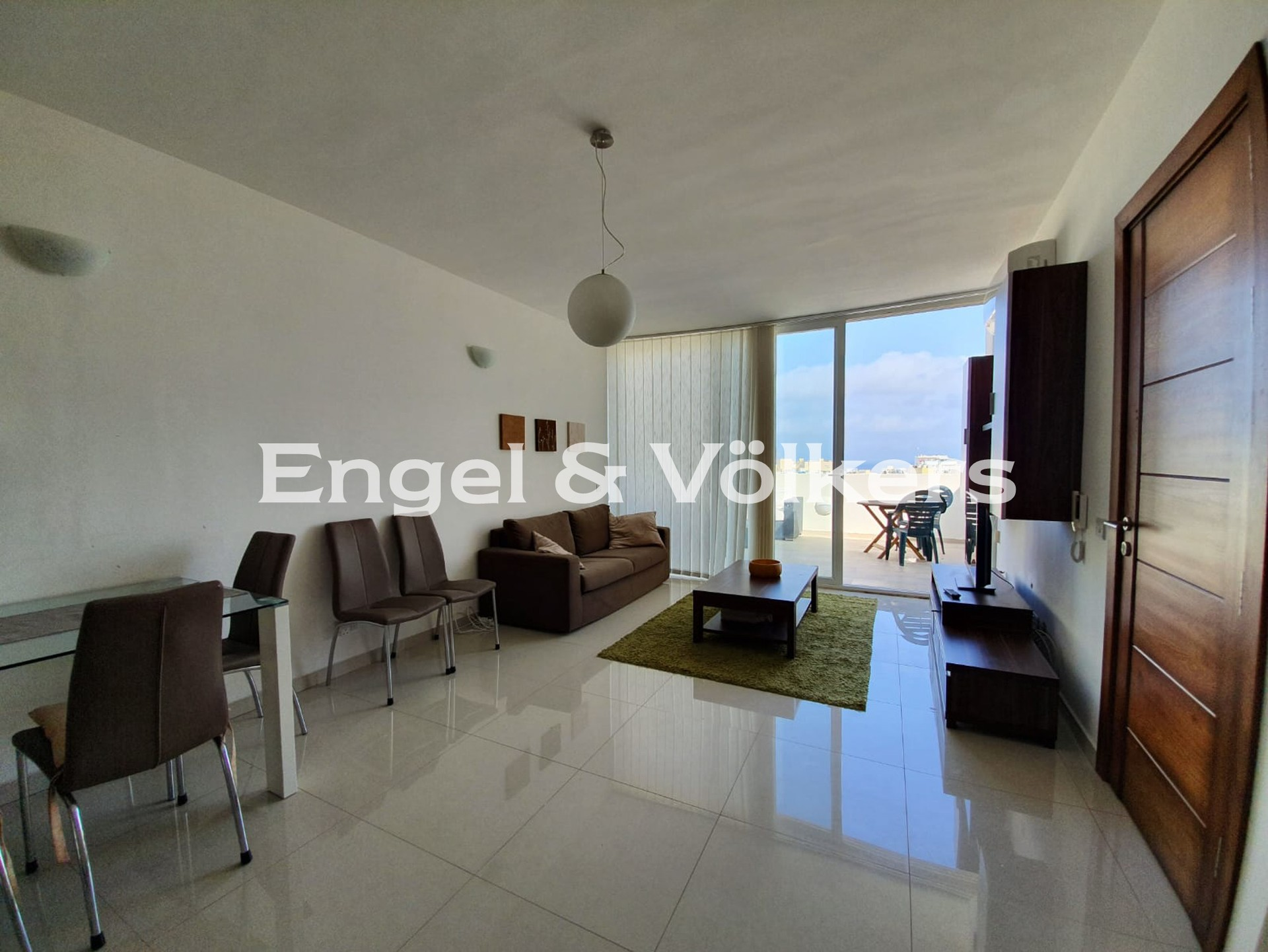 Apartment in Sliema - Penthouse, Sliema, Kitchen/Dining/Living