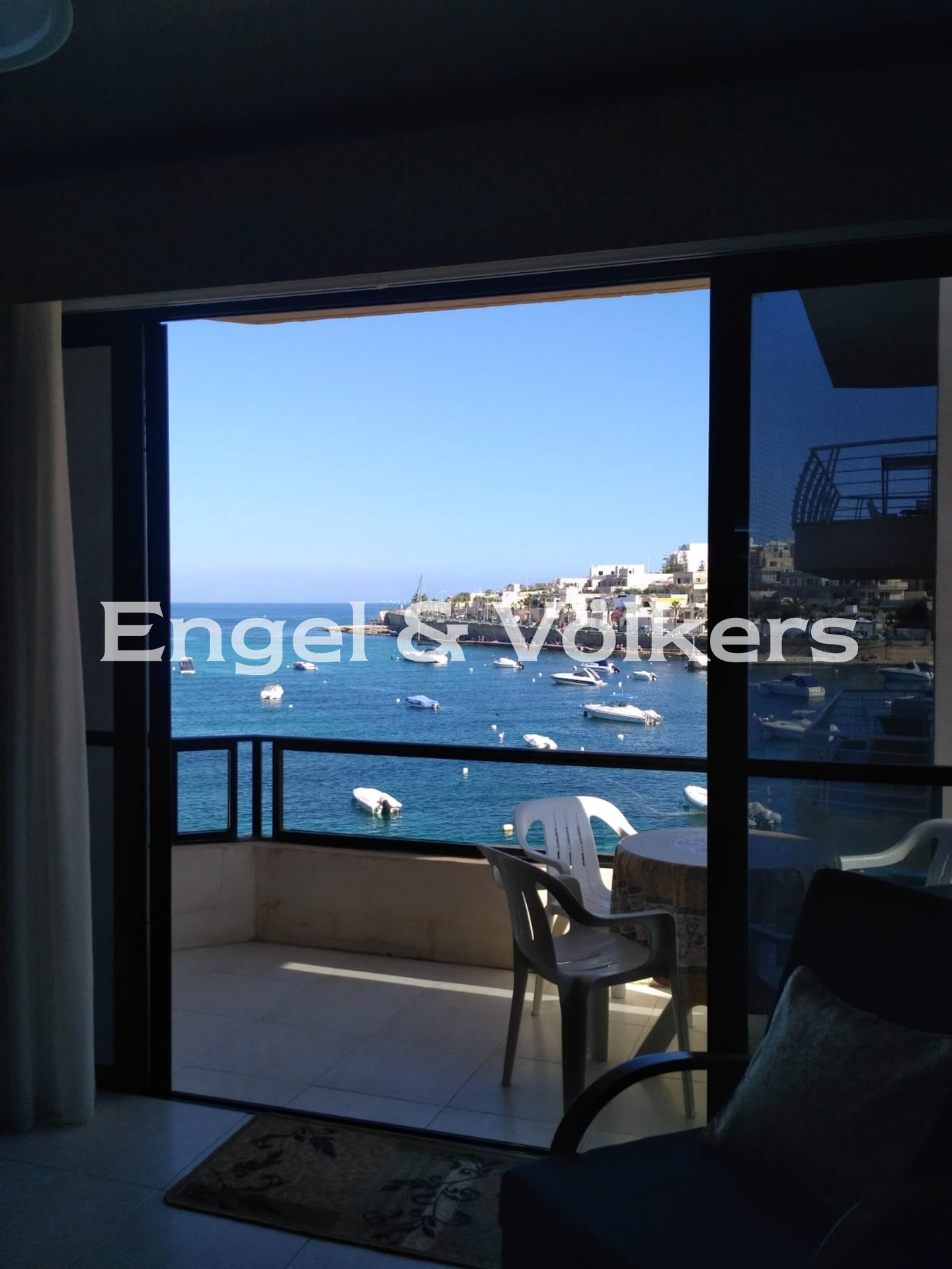 Apartment in M'Scala - Apartment, M'Skala, Kitchen/Dining/Living with a sea view