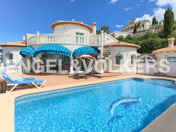 House in La Sella Golf - Pool area with glassed naya.