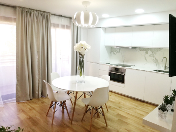 Condominium in Pla del Remei - Living Room with Kitchen