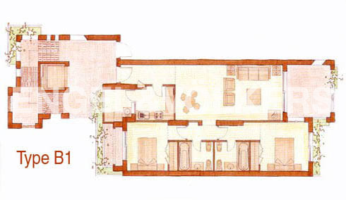 Condominium in El Rosario - Floor plan