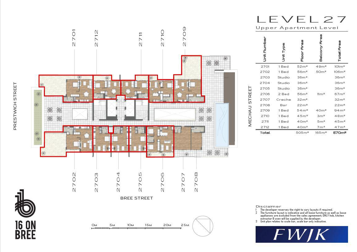Apartment in City Centre - Floor 27 layout
