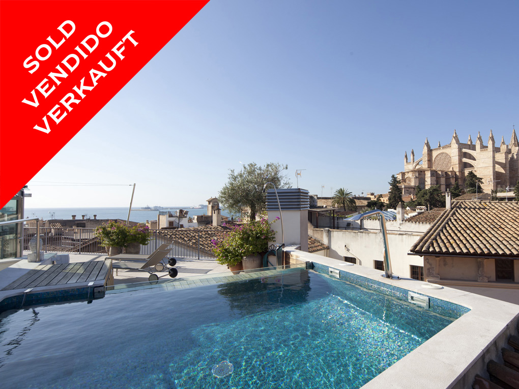 Palma - Unique Penthouse with large magnificent roof terrace. Sold!