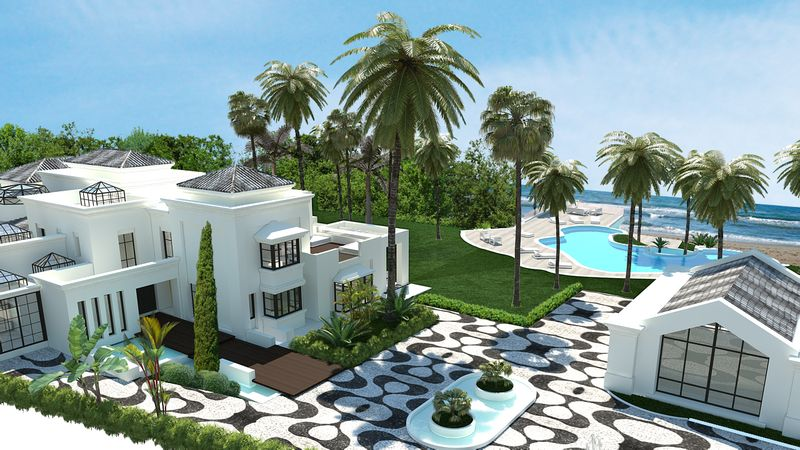 beachfront villa marbella