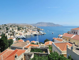 Mansion in Symi with a great view over Symi harbour