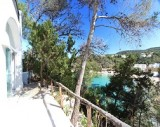 View on the beach and the ocean from a sensational villa in Santa Eulalia