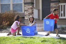 Kids are enthusiastic when involved in recycling projects