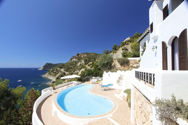 View of a property directly at the coast of San Carlos with pool and a wonderful view