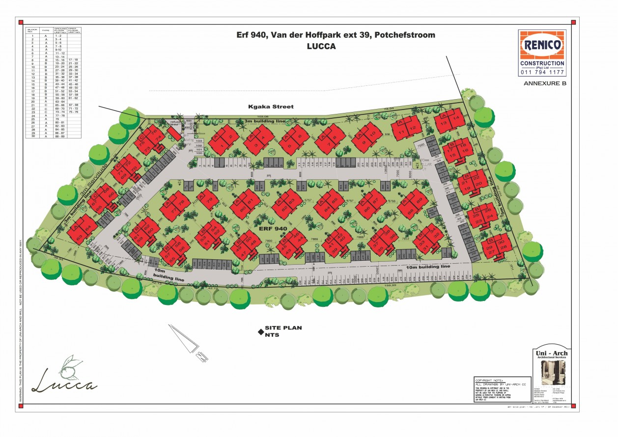 Lucca - affordable housing site plan