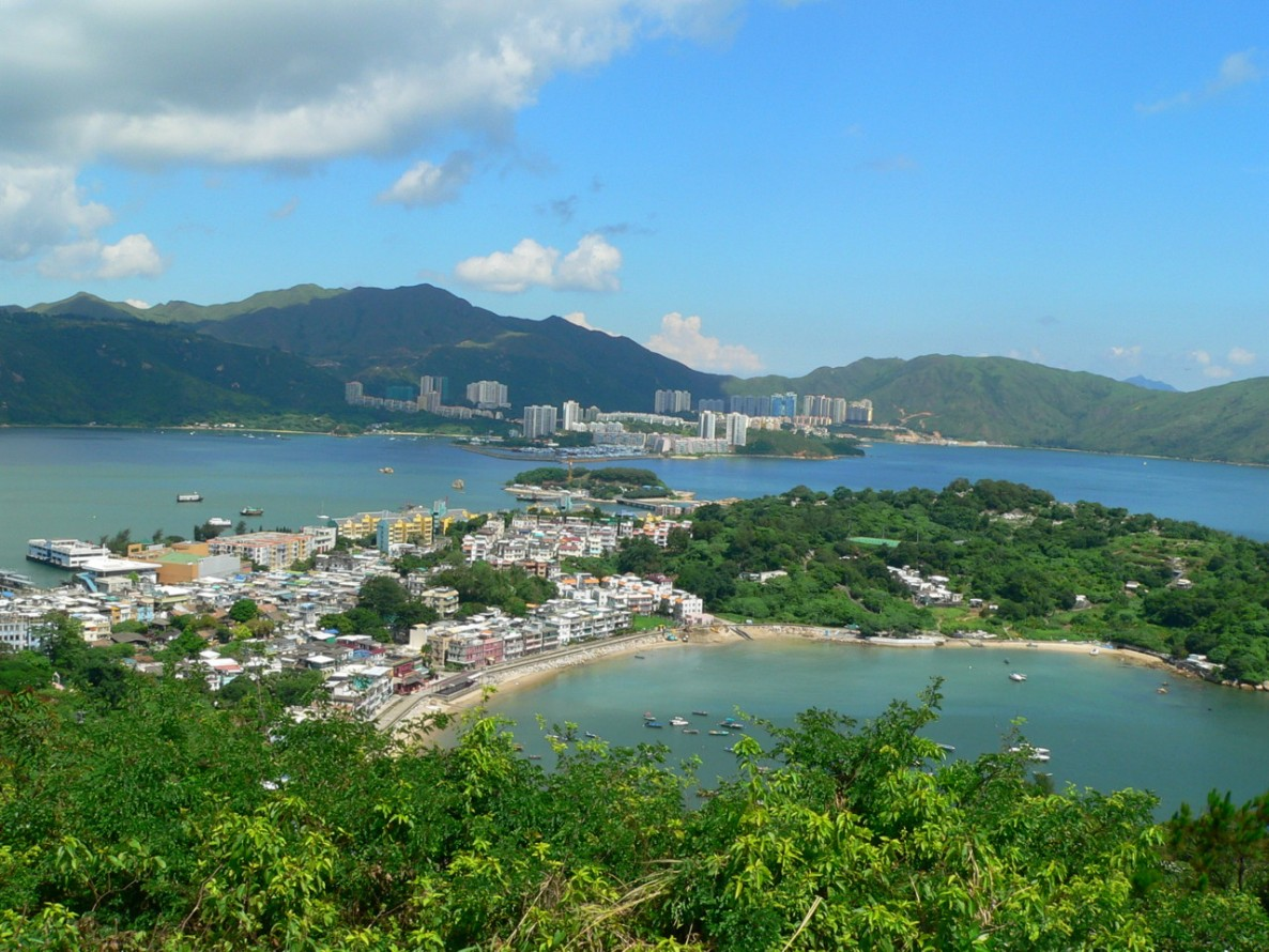 Looking northwards from Finger Hill on the island of Peng Chau.