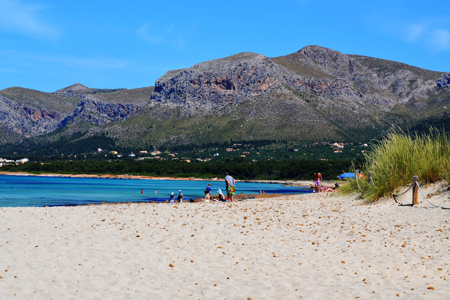 The beach of Son Serra de Marina is one of the few virgin beaches on the island