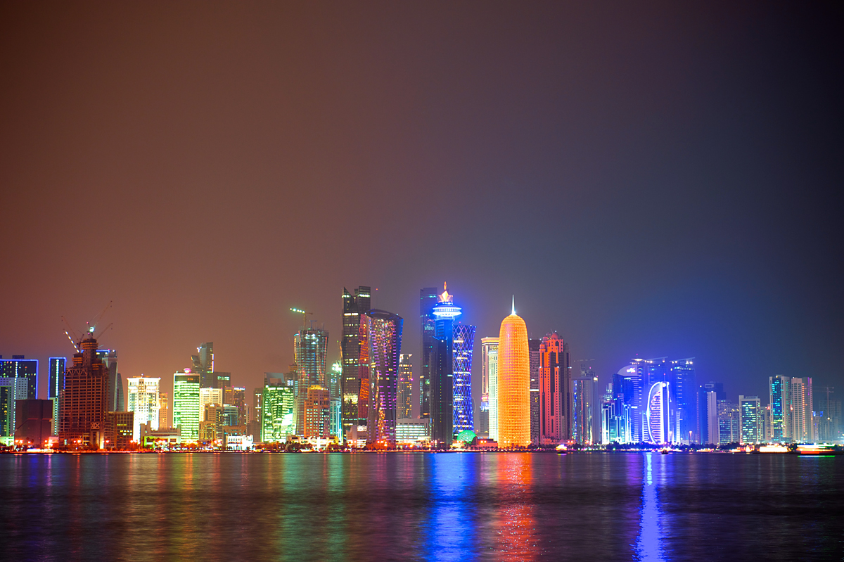 Qatar-Doha-night-city-s
