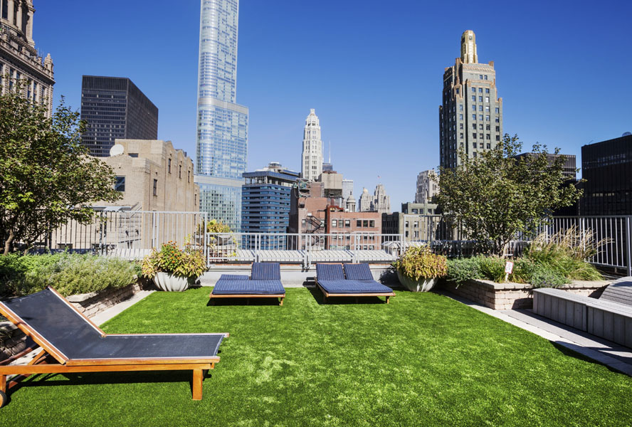Rooftop Garden in The Loop, Downtown Chicago