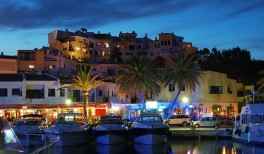 cabopino port by night