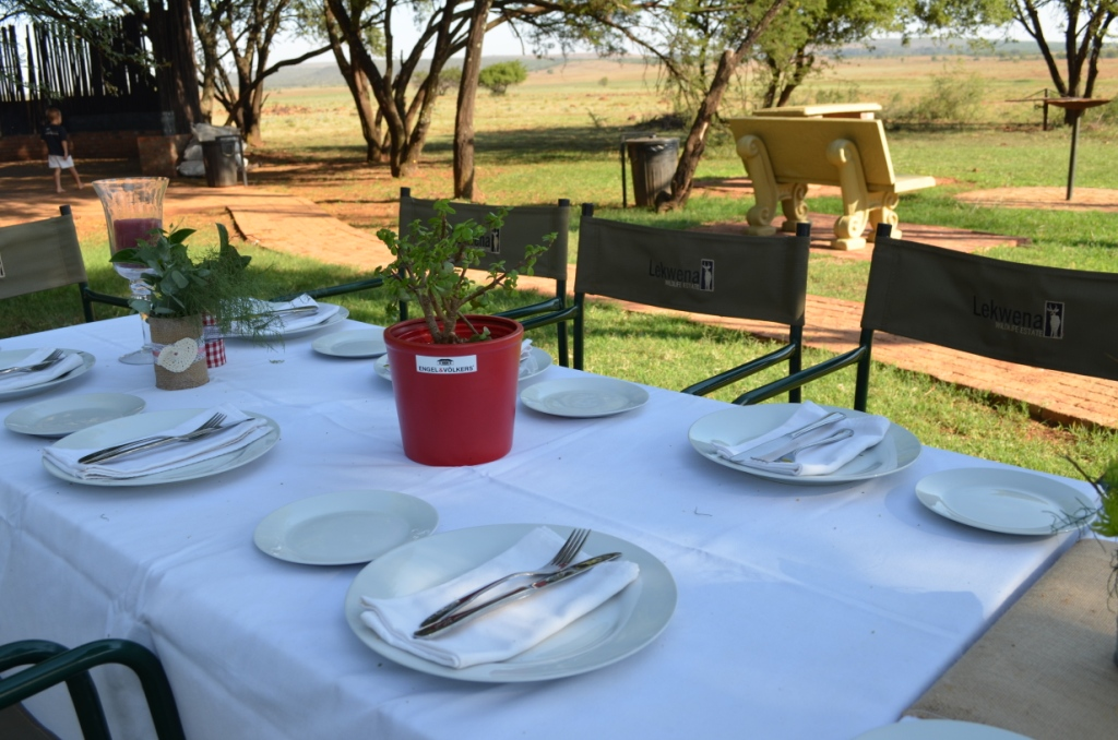 Guests were treated in style early one morning at Lekwena Wildlife Estate
