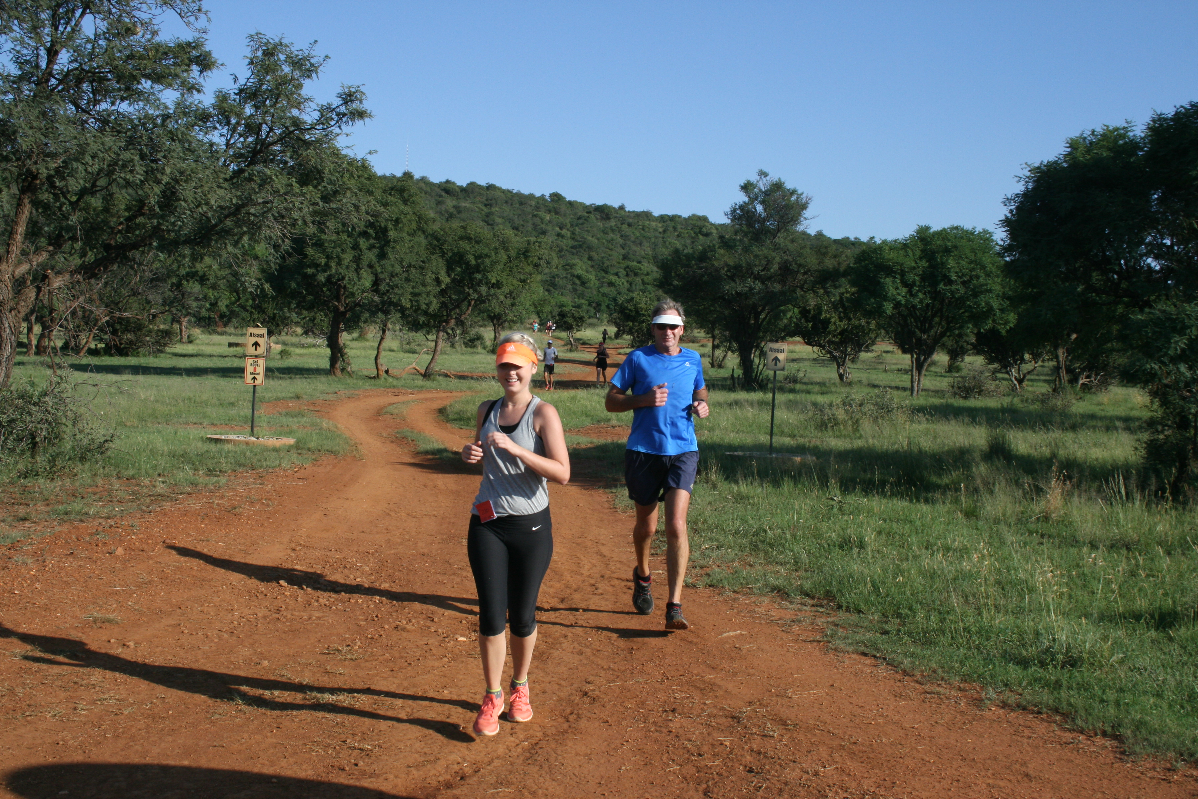 Enjoying the fresh morning air and being active on  Lekwena Wildlife Estate