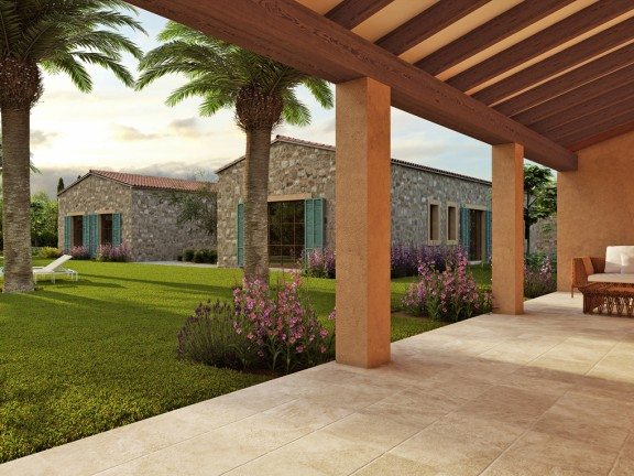 Front view of a modern finca in loft style (Santa Maria)