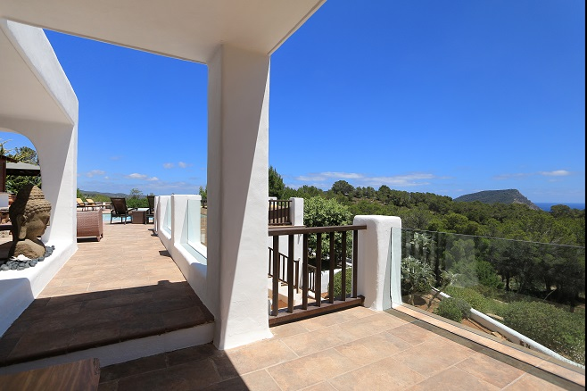 High quality exterior of a villa in Santa Eulalia