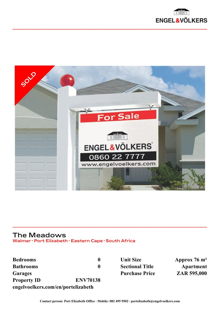 Sold By E&V in Port Elizabeth
