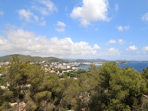 View of Santa Eulalia and its great real estate