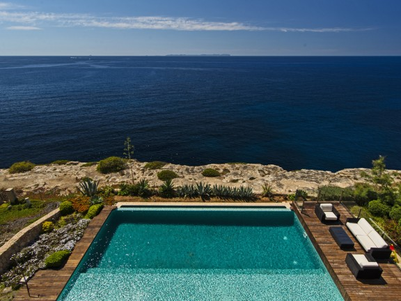 Modern villa in Cala Pi with sea view